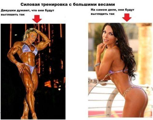 ошибки женщин в представлении силовых тренировок