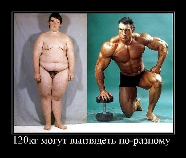 как выглядят разные 120 килограмм на человеке