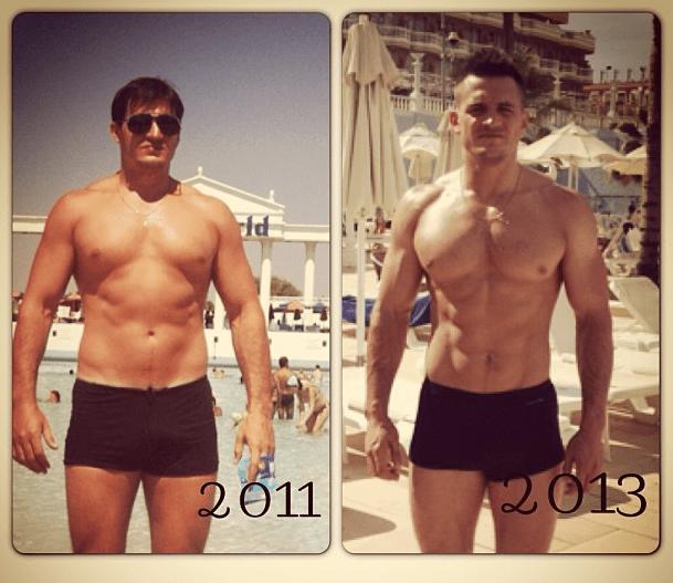 качок до и после