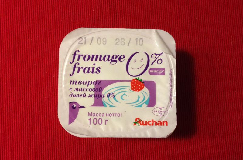 AUCHAN fromage frais, 0%