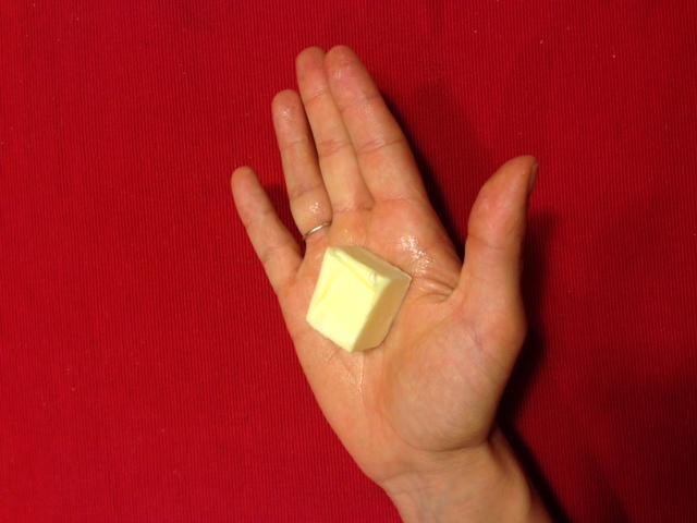 Как выглядит 100 ккал маслом
