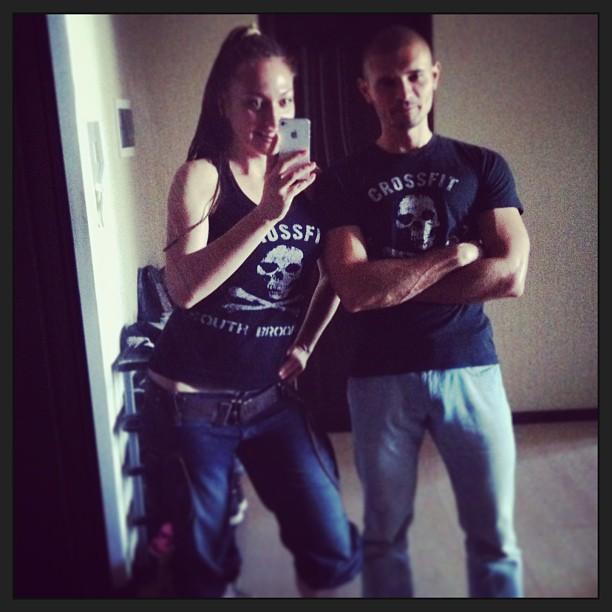 Ярослава Науменко и ее муж Евгений тареев