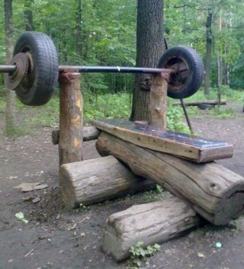 домашний_спортзал в лесу