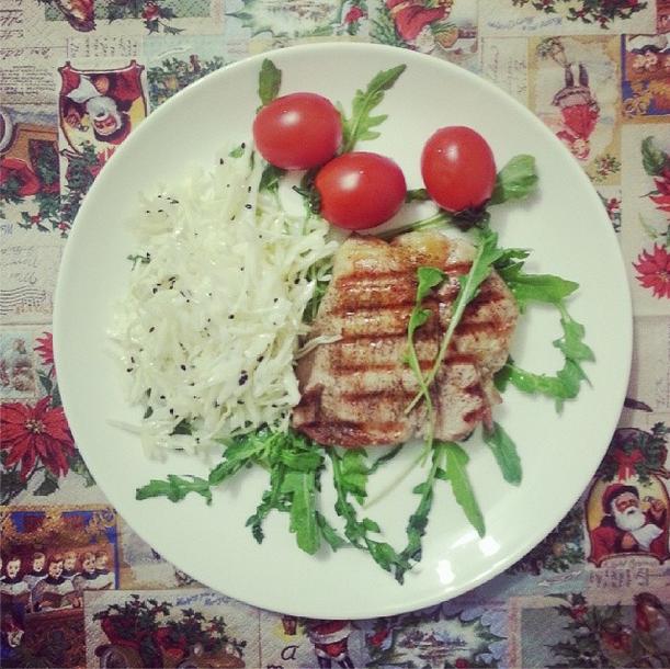 Пример обеда Александры Томилиной