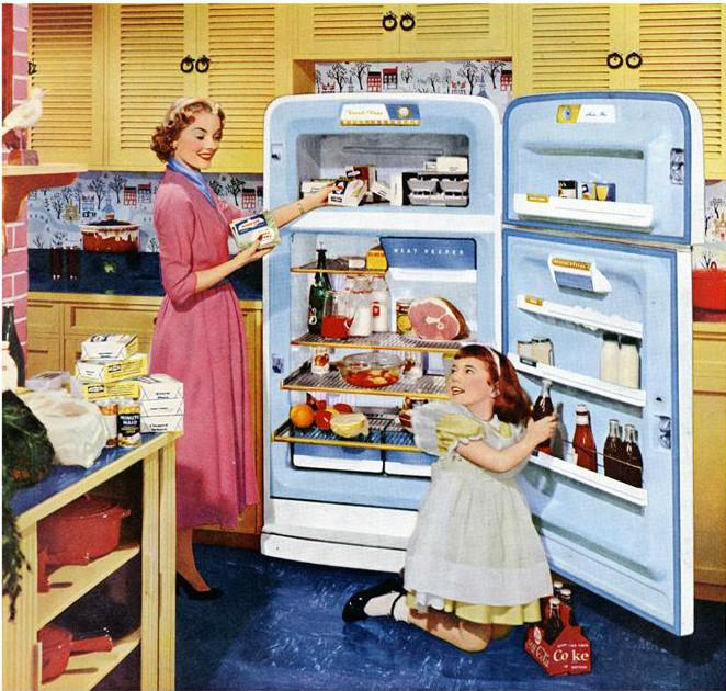 Фото холодильник с едой