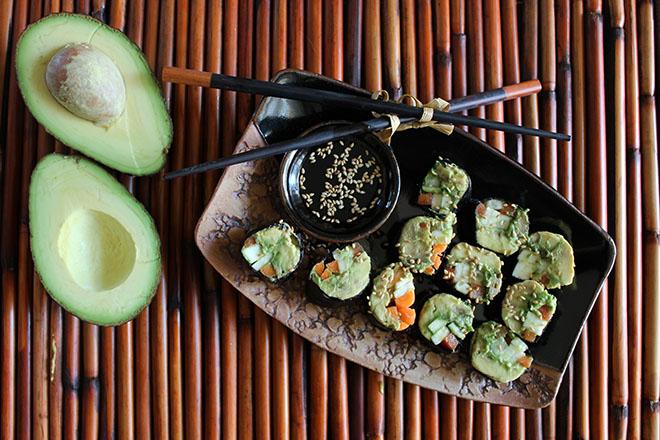 суши зожник авокадо
