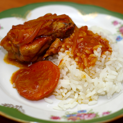 курица и рис