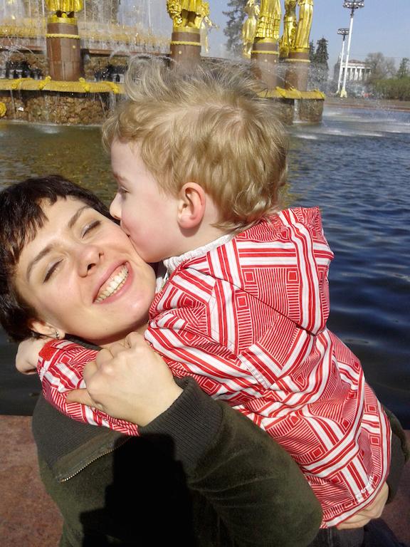 Ольга Какрищенко с сыном