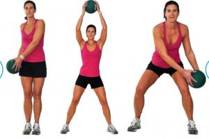 Медбол. Упражнение 8