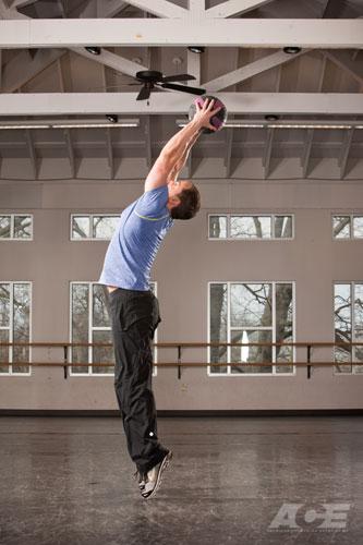 Медбол. Упражнение 4