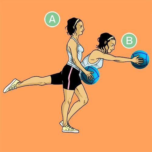 Медбол. Упражнение 6