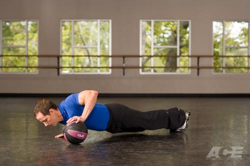 Медбол. Упражнение 14