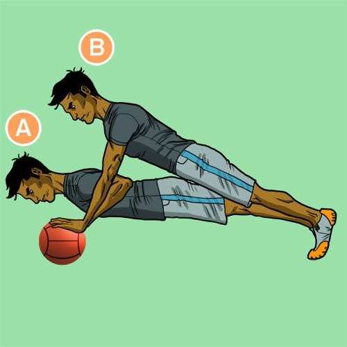 Медбол. Упражнение 11