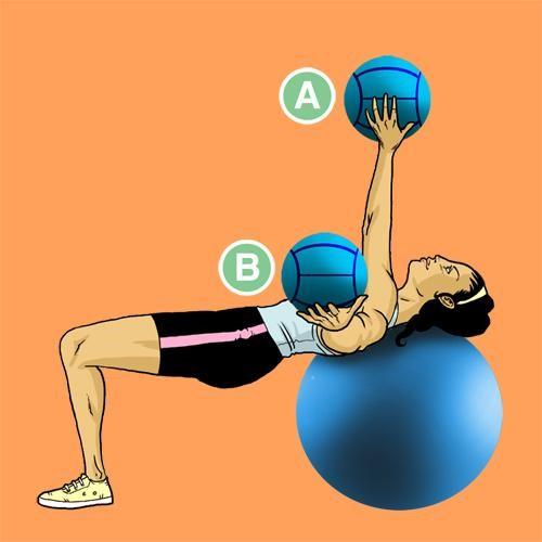Медбол. Упражнение 16