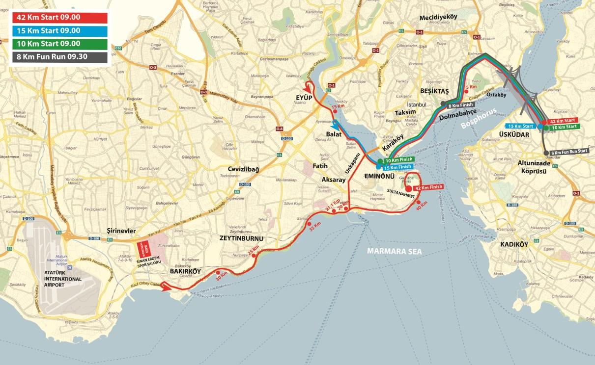 Istanbul-Marathon-Map
