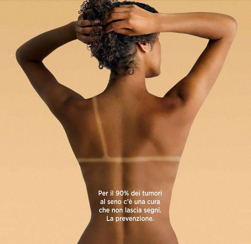 креативная реклама против рака груди