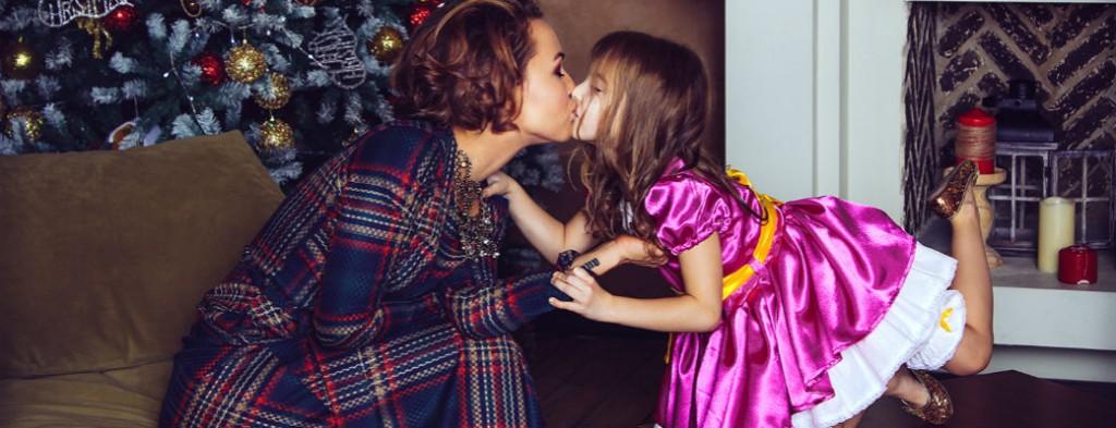 Юля Кудерова и ее дочь Ева Кудерова