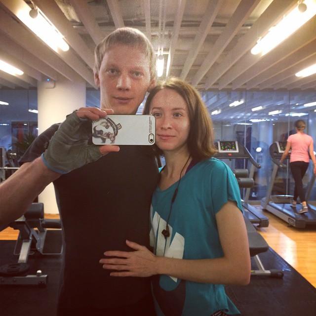 Юля с мужем