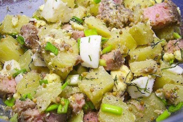 Салат с яйцом и тунцом рецепт очень вкусный