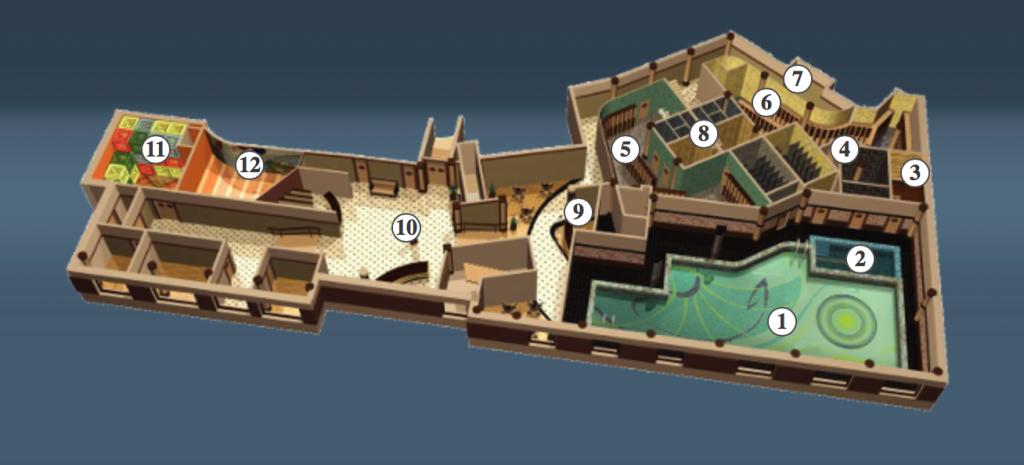 "Фитнес-центр ""Коперник"". план-схема, 1-й этаж"