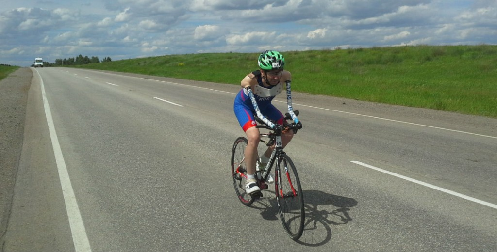 Владимир Рябоконь на велотренировке