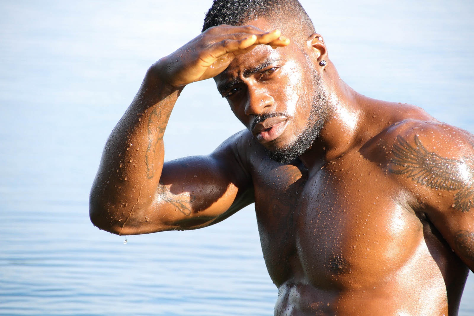 damn-fine-yummy-sexy-cute-hot-body-wet-tattoos-black-men