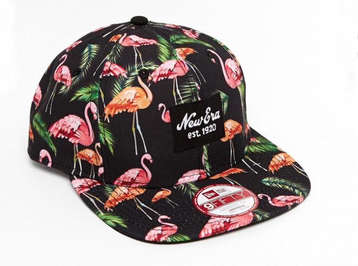asos кепка фламинго