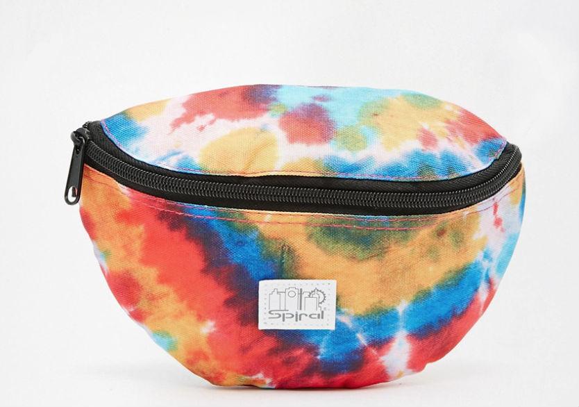 asos сумка на пояс разноцветная