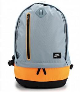 nike рюкзак серый с оранжевым