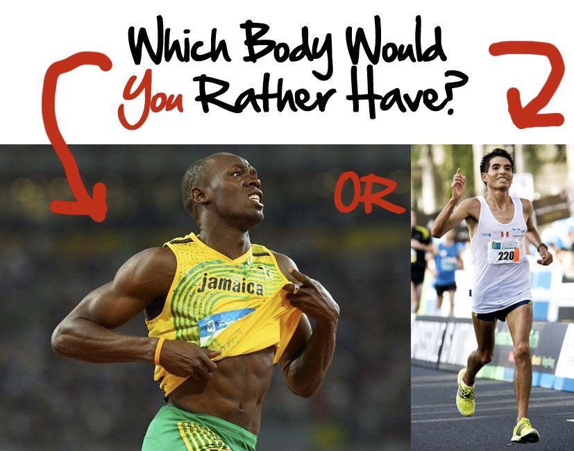 ВИИТ (короткие и интенсивные забеги) против бега на выносливость: принципиально разные тела.