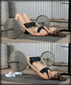 Ягодичный мостик - главное и основное упражнение, нацеленное на ягодичные мышцы.