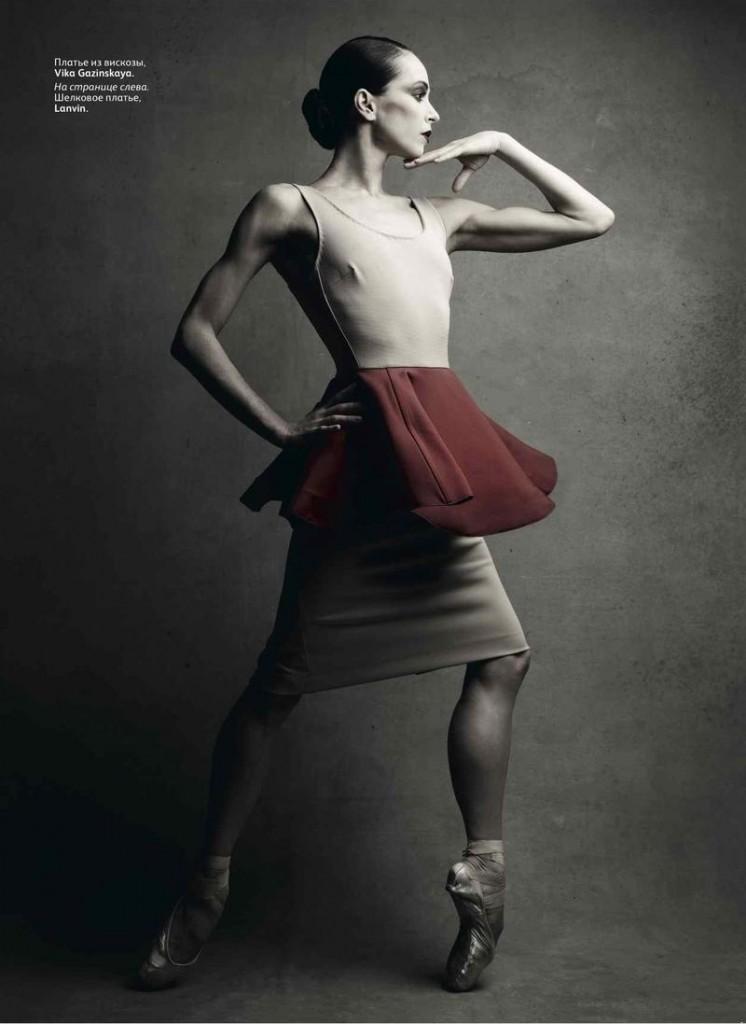 Диана Вишнева в фэшн-стори для русского Vogue.