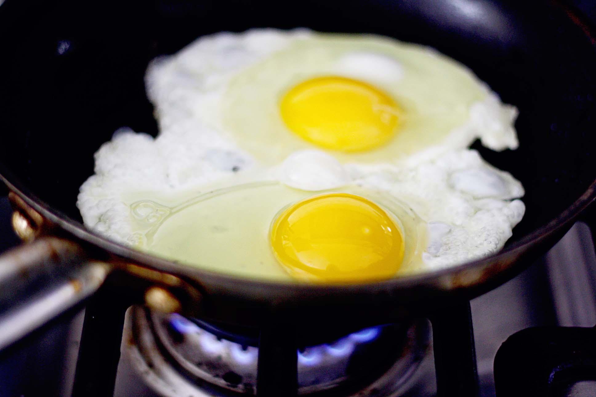 завтрак яйца