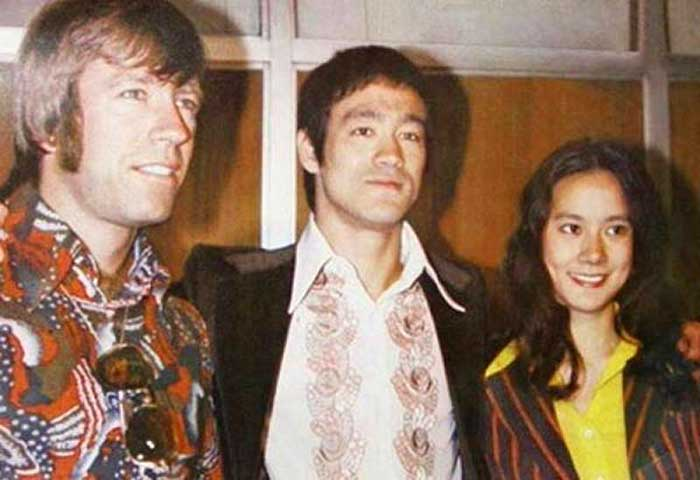Chuck-Norris-Bruce-Lee-and-Nora-Miao