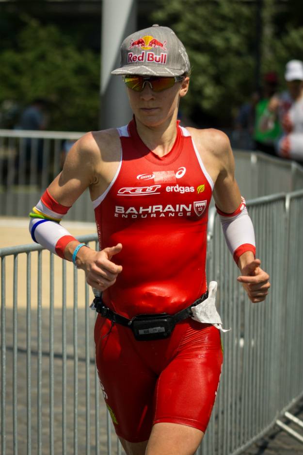 Даниэла Риф на дистанции во Франкфурте этим летом.