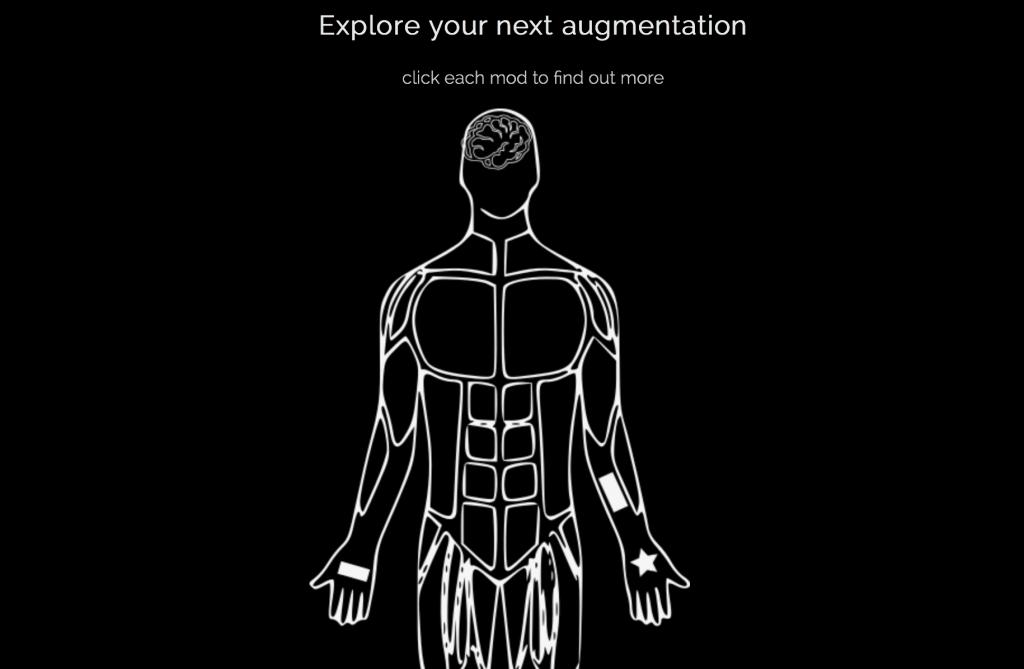 Апгрейды тела, которые предлагают сделать в Grindhouse Wetware (скриншот с официального сайта).