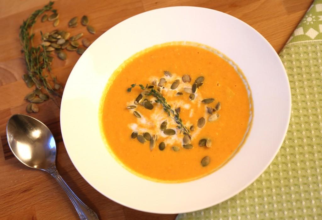 5 Тыквенный суп с кокосовым молоком