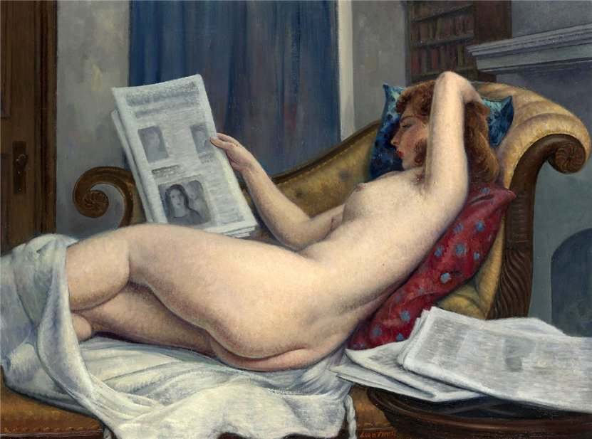 Leon Kroll. Naked Woman Reading