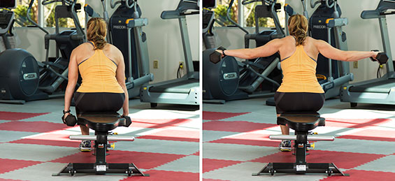 Rear delt lateral raises