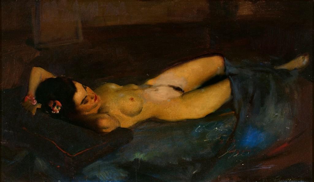 GIL ELVGREN. Reclining Nude
