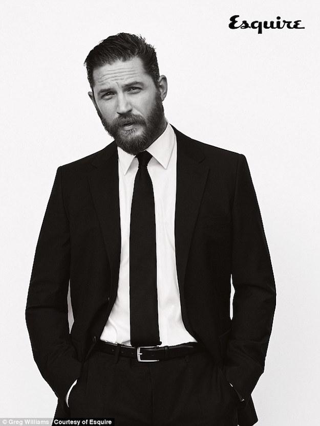 том харди, борода, фотосессия для эсквайр