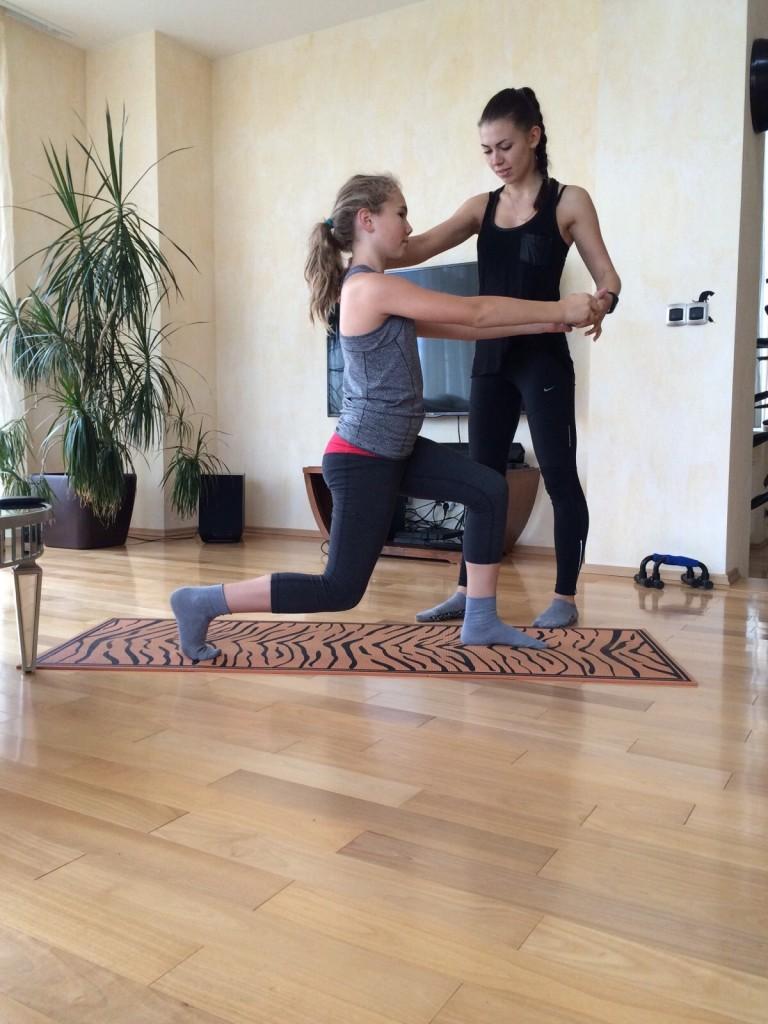 Екатерина Жбанова тренирует
