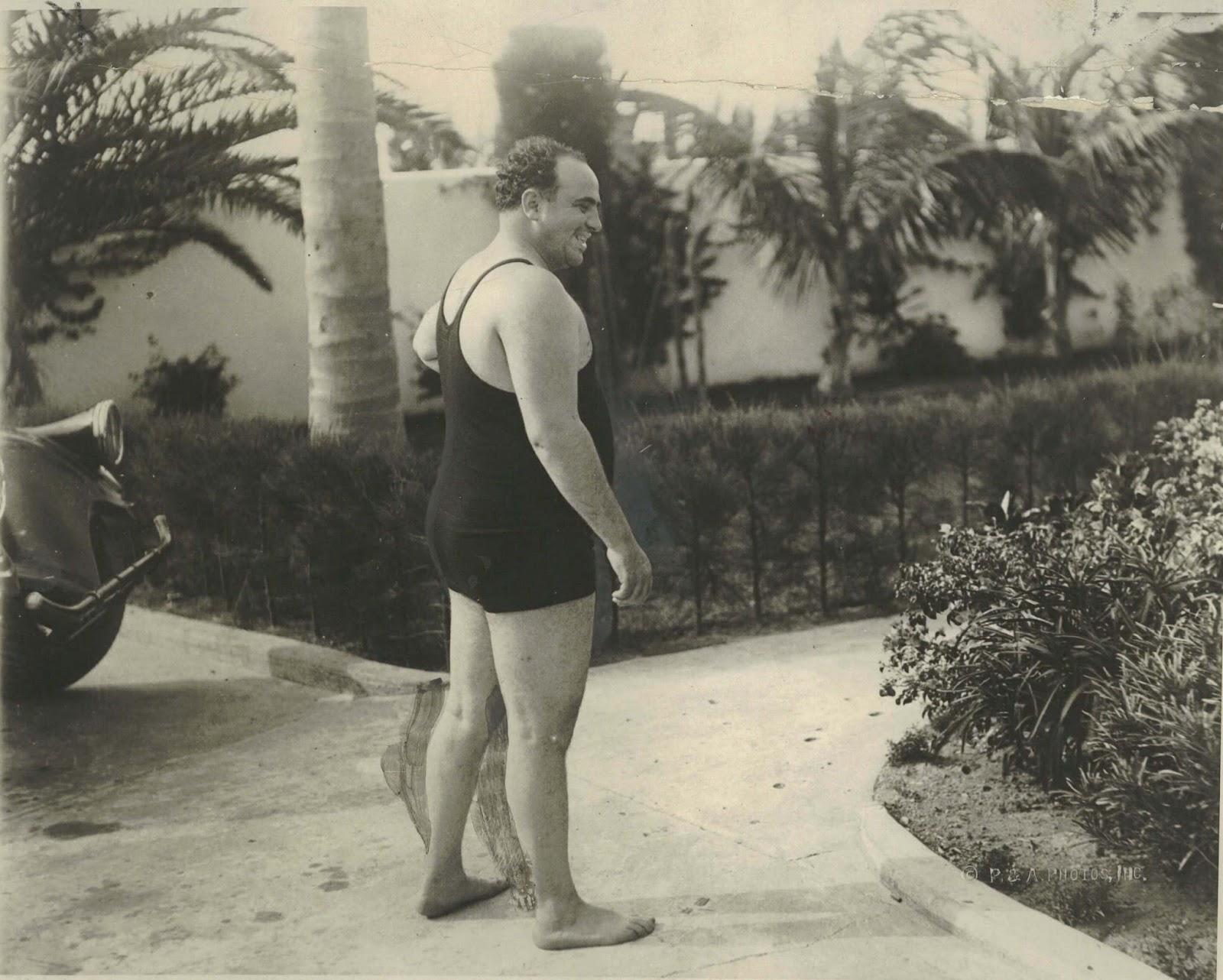 Аль Капоне в купальном костюме, 1929 год, Майями