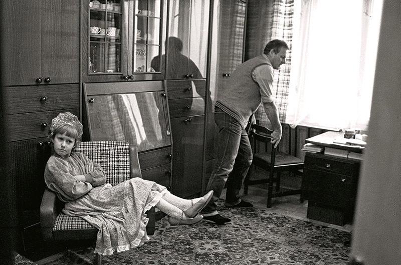 Анатолий Собчак с дочерью Ксюшей, Ленинград, СССР, 1989 год