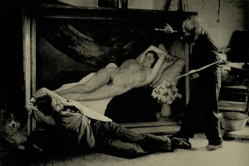 Жан Маре позирует Пикассо, 1944 год