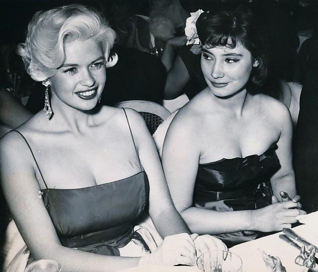Татьяна Самойлова и Джейн Мэнсфилд, Канны, 1958 год