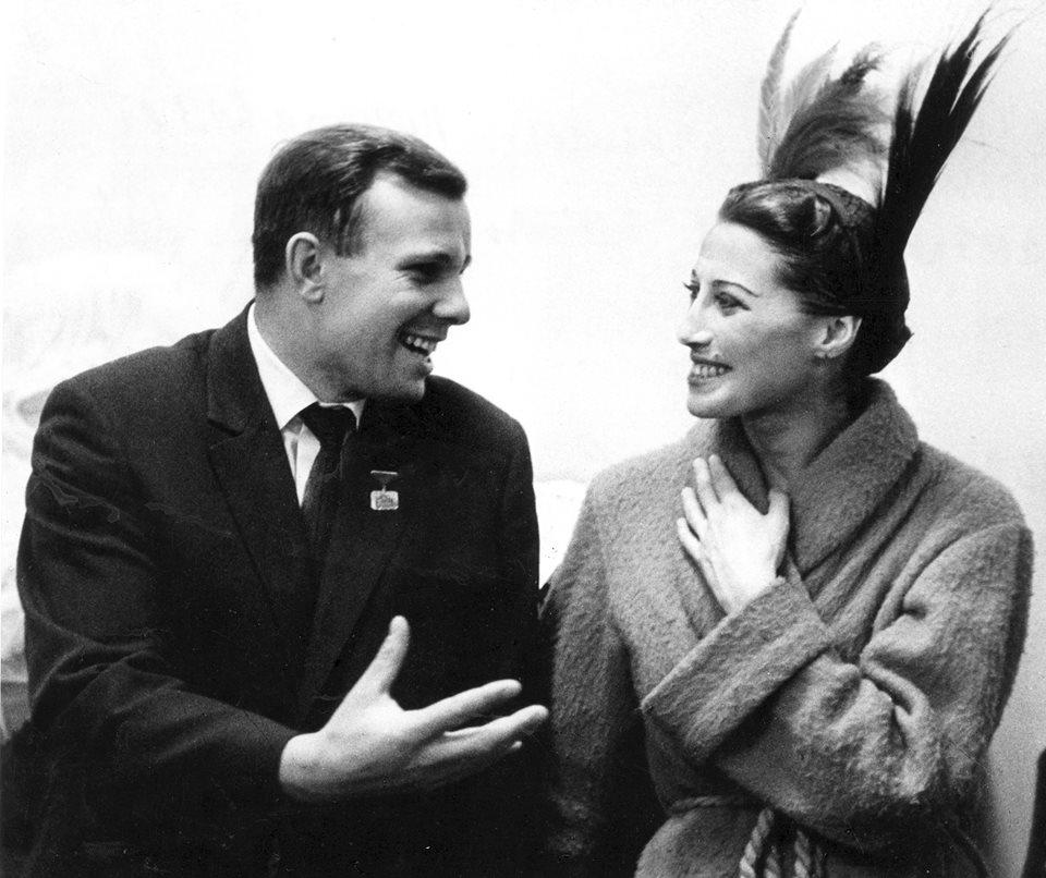 Юрий Гагарин и Майя Плисецкая, 1961 год