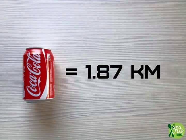 банка кока колы и расстояние которое вы должны пробежать, чтобы сжечь эти калории