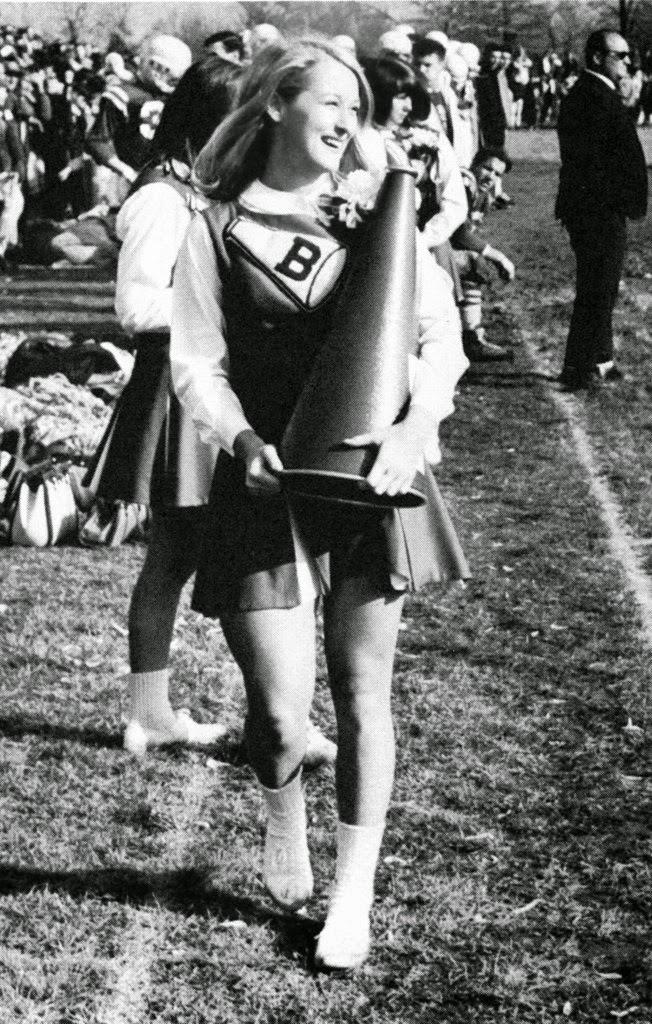 Мерил Стрип в школе черлидеров, 1960 год, Калифорния