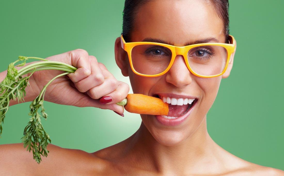 зубы и морковка